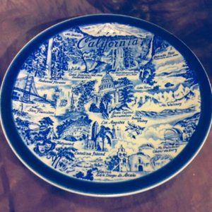 California Blue Made in Japan Vintage Plate